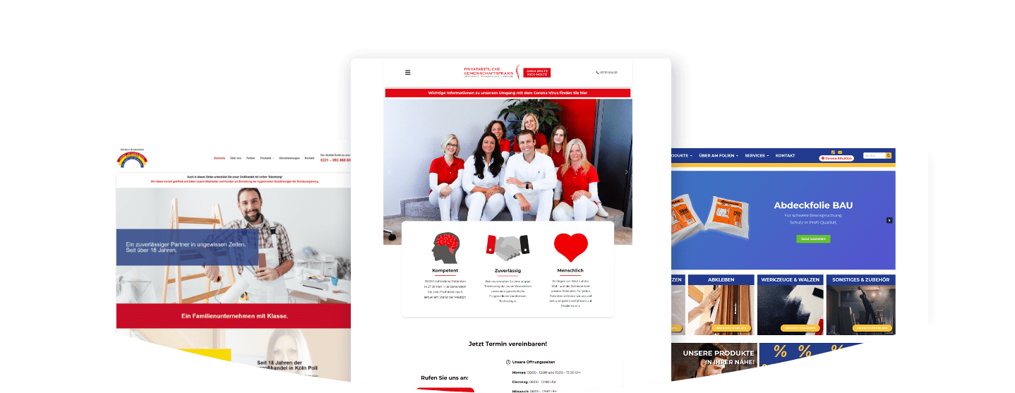 Referenz-Webseiten erstellt von bacomedia